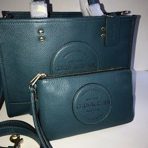 Coach Dempsey carryall and wallet set NWT